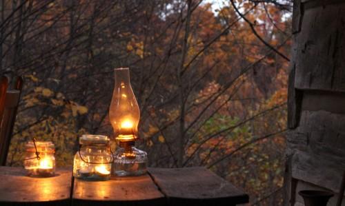 lanterns lit