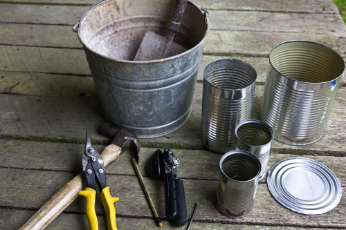rocket stove 1 500x333 Make a hobo tin can portable rocket stove + class