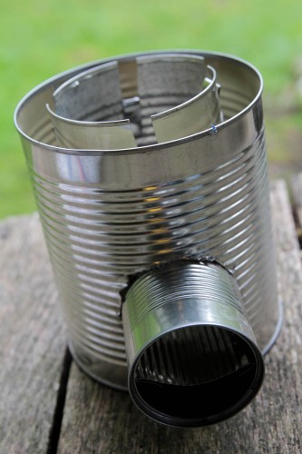 rocket stove 10 333x500 Make a hobo tin can portable rocket stove + class