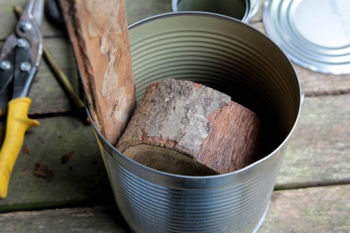 rocket stove 2 500x333 Make a hobo tin can portable rocket stove + class