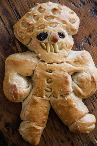 Irreverant santa bread