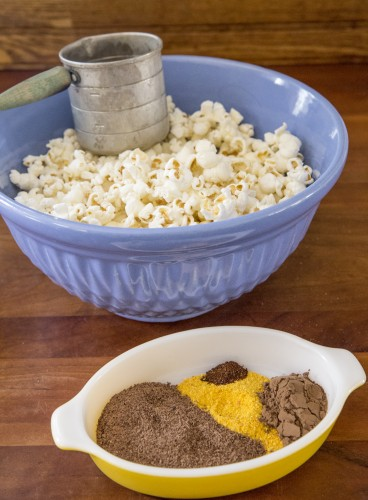 popcorn and spices 368x500 Chocolate Orange Chili Picnic Popcorn