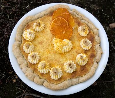 birthday orange cake pi