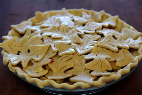 The Brookes' apple pie unbaked