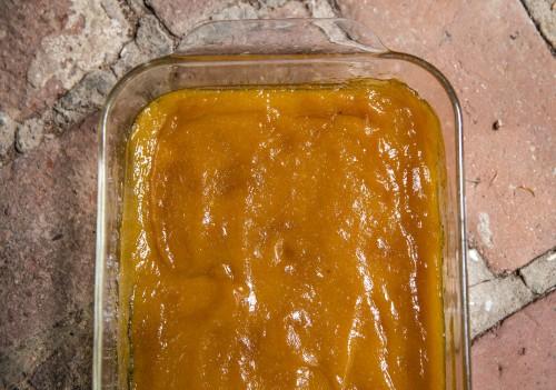 peach butter, baked