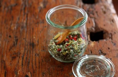 herb salt weck jar