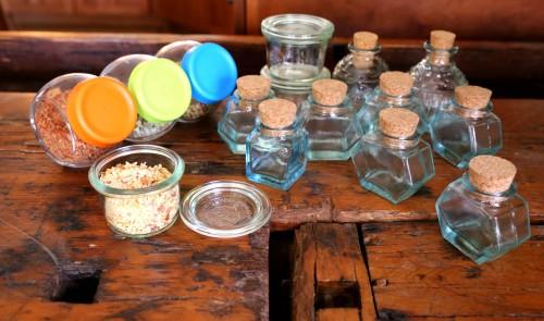 herbed garlic salt and jars