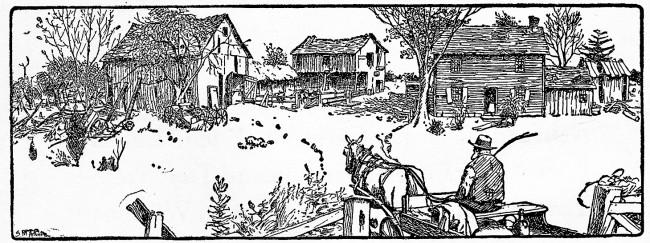 a tumbledown farm