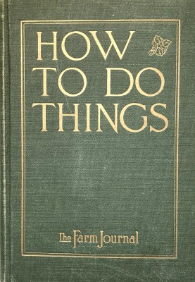 how to do things, 1919 book cover